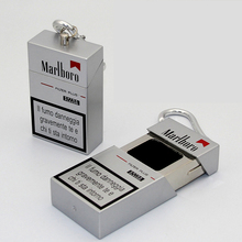 цена на Portable creative Ashtray outdoor Mobile Ashtray With lid Keychain Pocket auto aschenbecher Mini Cigarette Metal Bottle Storage
