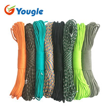 YOUGLE 550 Paracord Parachute Cord Lanyard Tent Rope Guyline Mil Spec Type III 7 Strand 50FT 100FT For Hiking Camping 215 Colors(China)