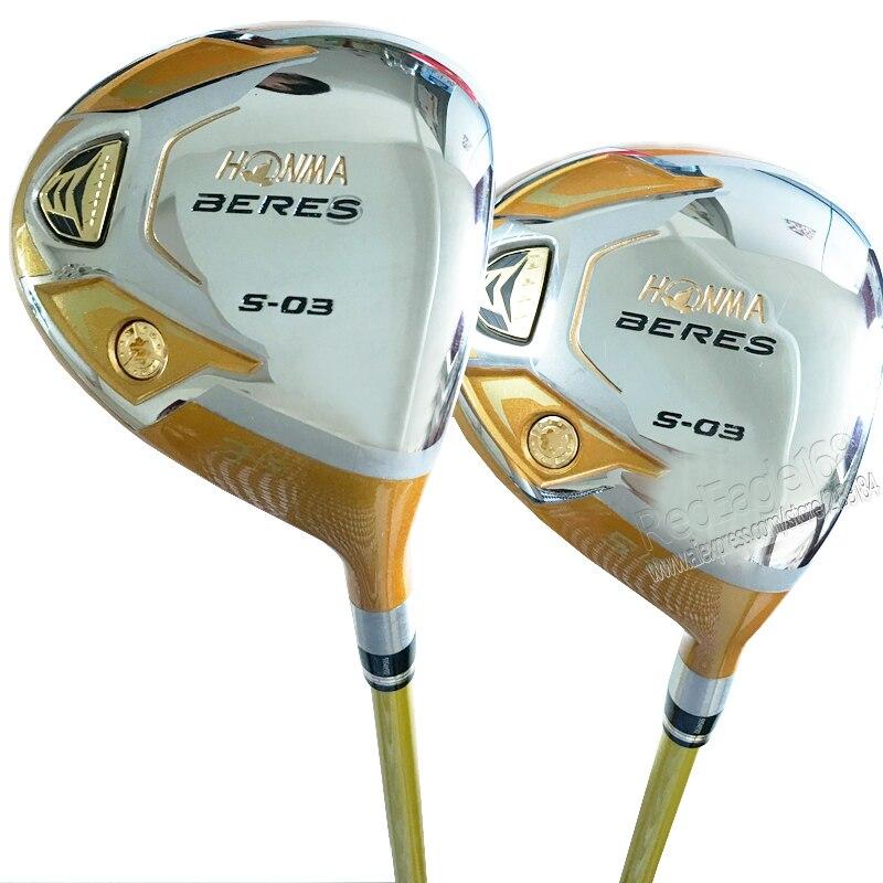 Cooyute nouveau mens golf clubs honma s-03 4 étoiles 3/15 5/18 Golf fairway bois avec Graphite shaft Golf clubs bois livraison gratuite
