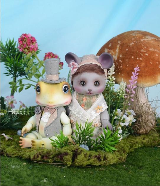 1 8bjd doll little panda and frog