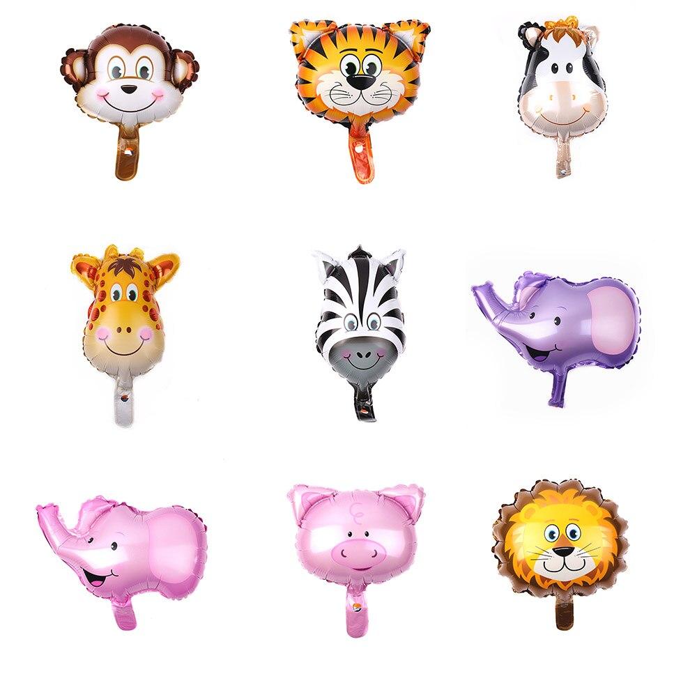 2019 Mini Cabeça de Animal Balões Balão Decorações Da Festa de Aniversário Do Casamento Do Feriado Presente Animal Dos Desenhos Animados do Miúdo Do Bebê Brinquedo