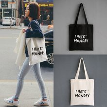 2017 Autumn Winter New Hot Fashion Women Female Canvas Bags Shopping Bags Shoulder Bags Student Portable Zipper Bag Letters