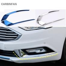 Нержавеющая передние противотуманные фары светильник бровь фары крышка накладка для Ford Mondeo/Fusion 2 шт./компл. автомобильные аксессуары Стикеры C761