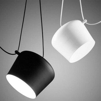Post Modern Black Hanging Pendant Light Contemporary Restaurant Personality Office Suspension Pendant Lamp Indoor Lights