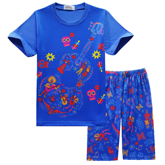 bfa90734a Kids Clothes Set 2018 New Anime Movie Coco Printed Clothing Sets Child  Sport Suits Beach Children Baby Boys Cartoon Clothes
