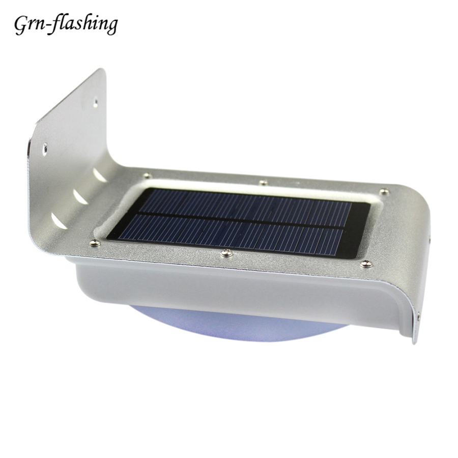 16 LED Morden Smart Garden Solar wall Light Motion Sensor Lamp waterproof outdoor lighting Auto on/off Energy Saving white