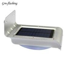купить 16 LED Morden Smart Garden LED Solar wall Light Motion Sensor Lamp waterproof outdoor lighting Auto on/off Energy Saving white дешево
