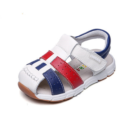 new 1pair Genuine Leather Sandals Children boy Orthopedic shoes, Kids Summer Shoes