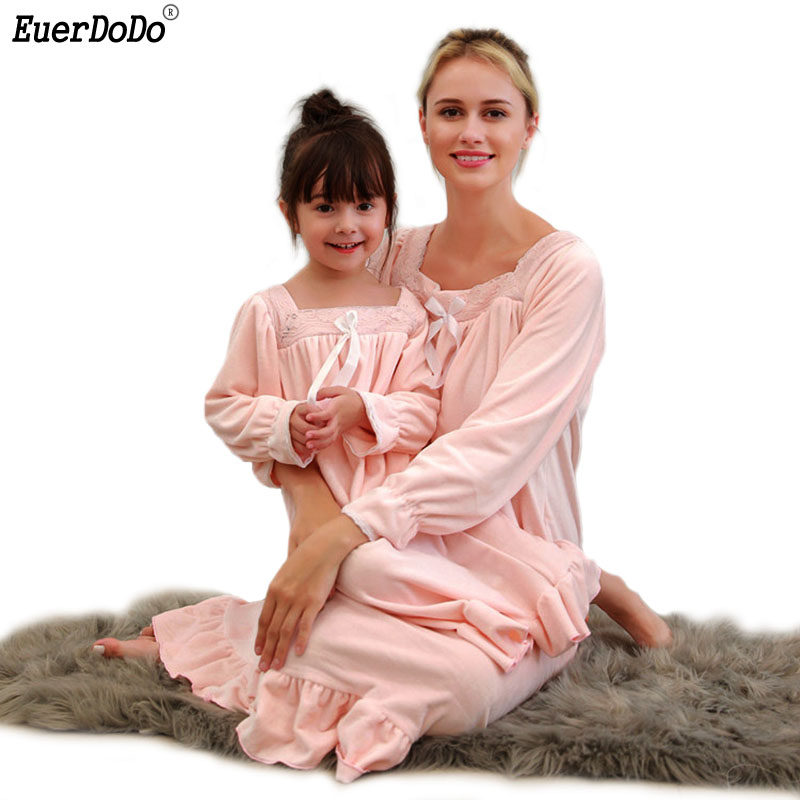 Underwear & Sleepwears Nightwear Night Sweatshirt Homewear Family Christmas Nighties For Women Sleep Dress Cotton Night Wear