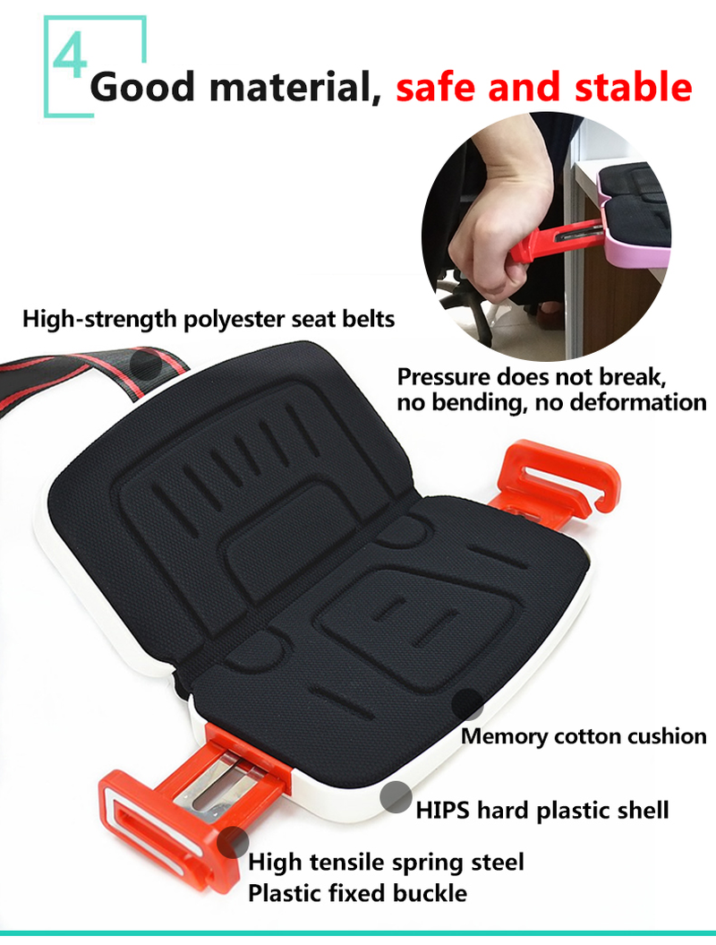 Grab And Go Mifold Portable Toddler Car Seat Mat Foldable Baby Car Safety Seat Travel Pocket Safety Harness Car Seat For Kids