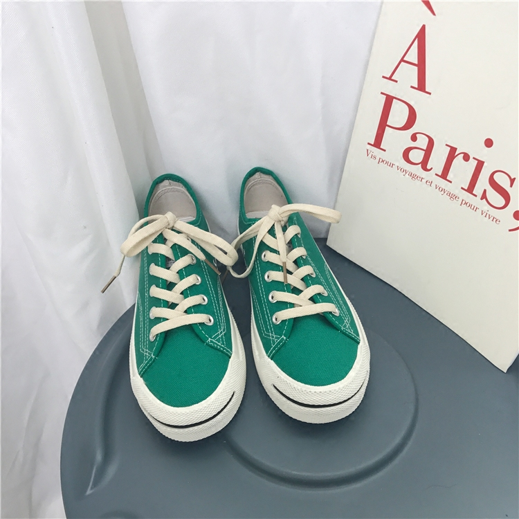 South Korea ulzzang Harajuku canvas shoes students open smile shoes ins star with the same paragraph wind shoes winter 33