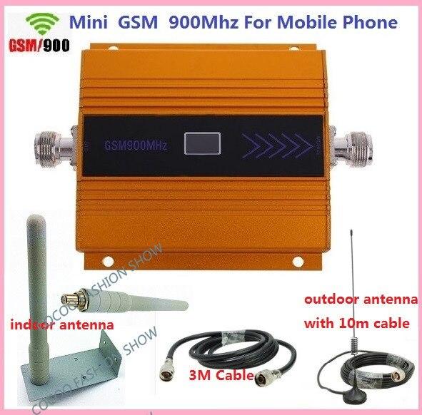 Nouveau booster de Signal gsm! Amplificateur de Booster de téléphone portable GSM 900, répéteur de Signal de téléphone portable + antenne omnidirectionnelle