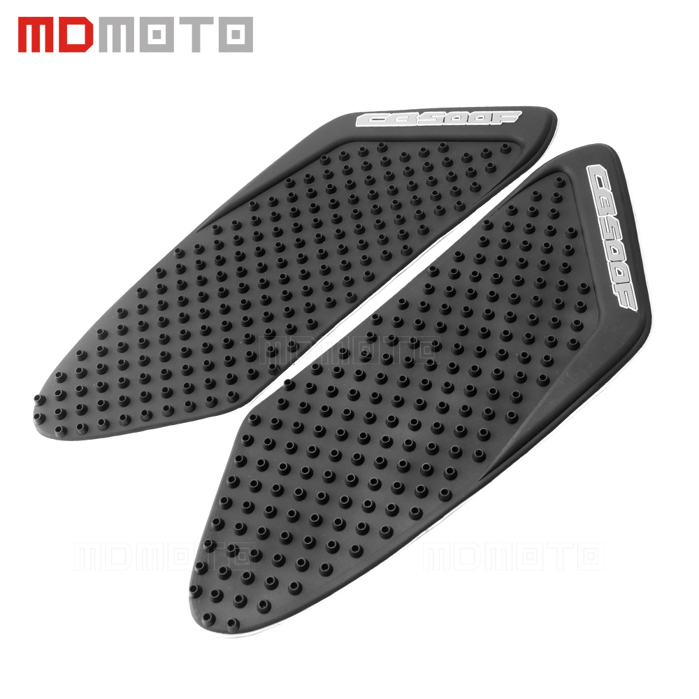Motorcycle Tank Traction Pad Side Gas Knee Grip Protector Anti slip sticker 3M Black Cover For Honda CB500F CB 500F 2013-2015 scoyco k11h11 motorcycle sports knee elbow protector pad guard kit black