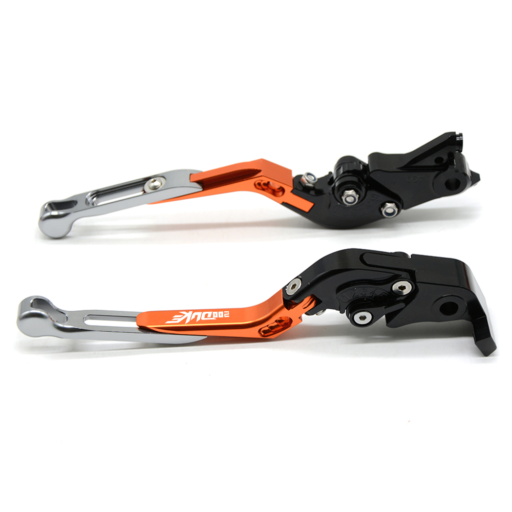 For ktm DUKE 200 RC200 200 Duke 2012 2013 2014 2015 2016 2017 2018 2019 CNC Motorcycle Folding Extendable Brake Clutch Levers in Levers Ropes Cables from Automobiles Motorcycles