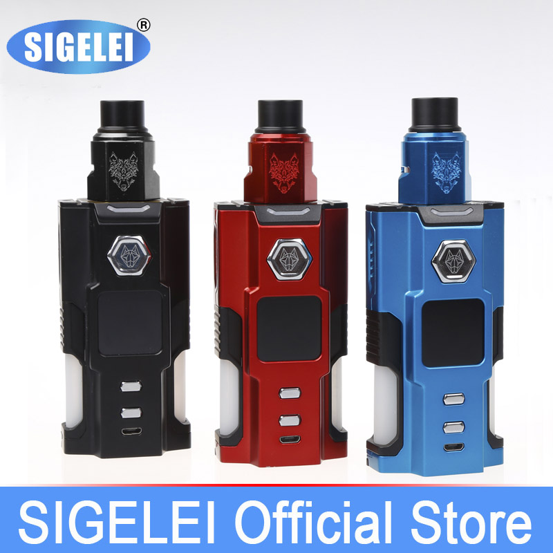 Snowwolf Vfeng Squonk vape kit MOD and atomizer from SIGELEI e electronic cigarette v9 350mah mini health electronic cigarette detachable atomizer e cigarette kit with usb ac charger