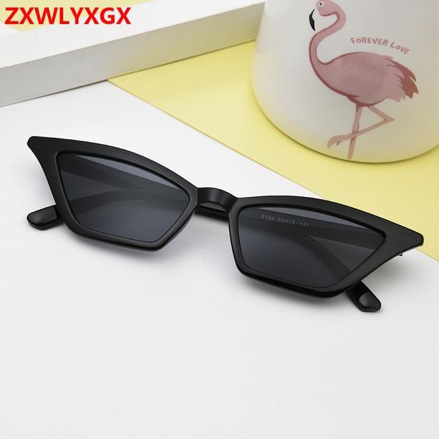 ZXWLYXGX 2018 new cat eye sunglasses women brand design retro colorful transparent colorful fashion cateye sun glasses men UV400 2