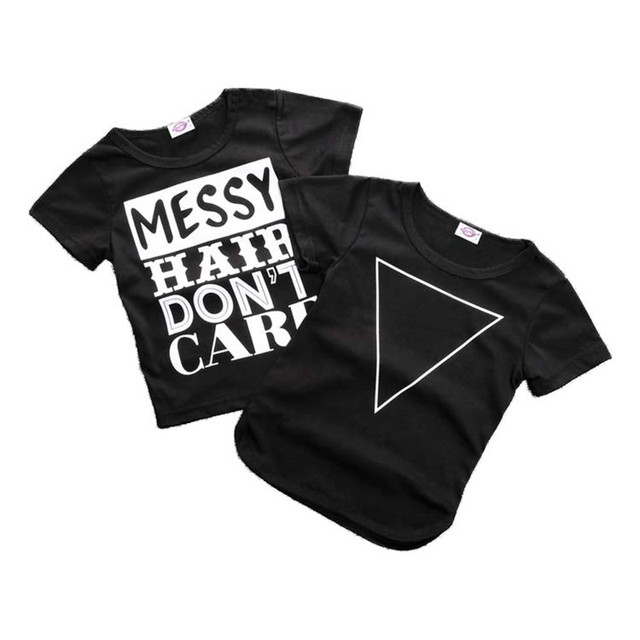 Black and White Cotton Baby Boys T-Shirt 3