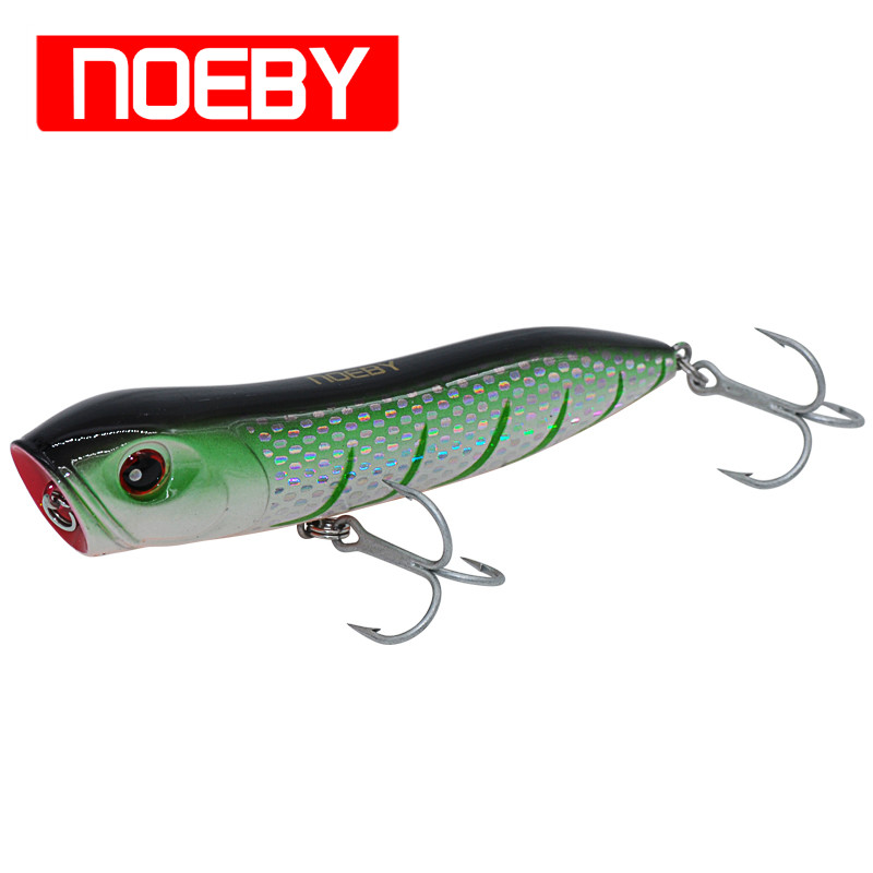 NOEBY NBL9112 Fishing Bait Popper 110mm/26g With VMC Hooks Top Water Isca Pesca Leurre De Peche Hard Fishing Lures noeby nbl9062 fishing lures 66g 140mm pencil sinking leurre peche mer brochet hard fishing bait