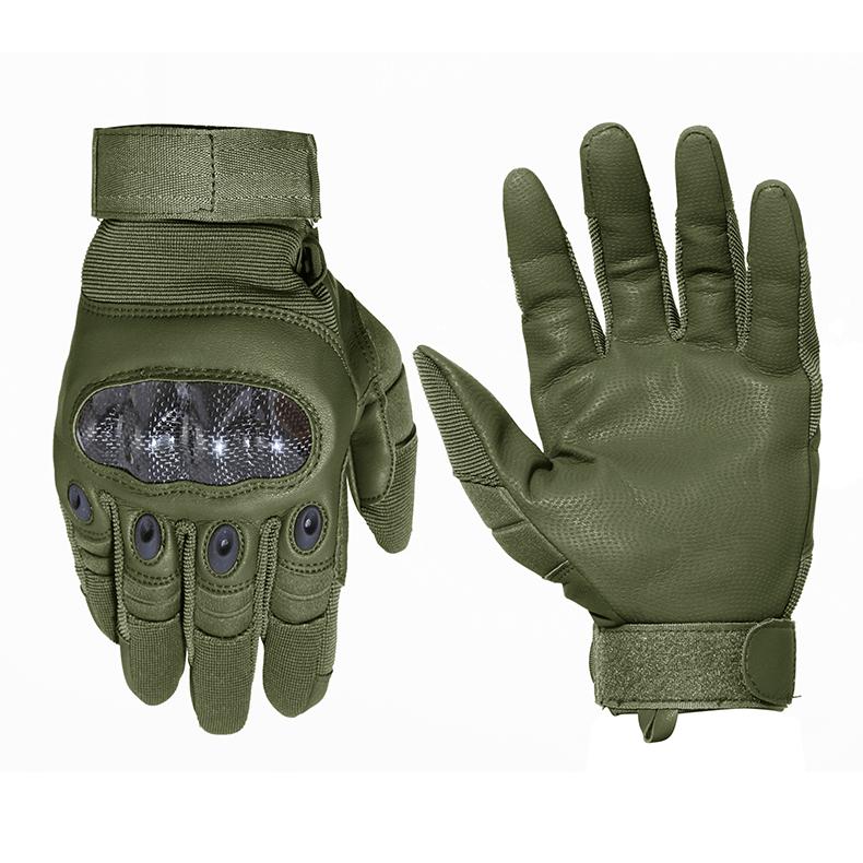 TACVASEN Military Tactical Gloves Men's Army Gloves Hard Shell Leather Full Finger Gloves Paintball Combat Gloves TD-YWHX-018