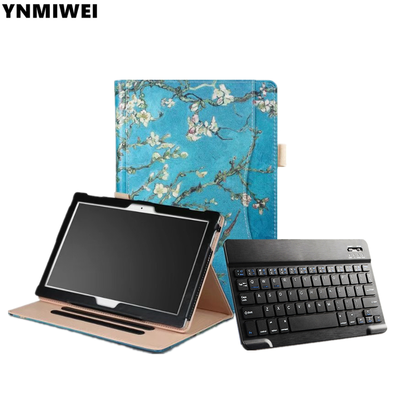 Tablet Case For Lenovo Tab4 10 TB-X304F X304N Bluetooth Keyboard Leather Case For Lenovo Tab 4 10 plus TB-X704F/N ynmiwei for miix 320 tablet keyboard case for lenovo ideapad miix 320 10 1 leather cover cases wallet case hand holder films