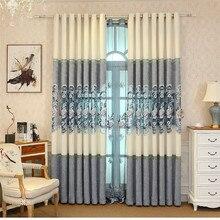 Пасторальные вышитые занавески Для гостиной Спальня классический современный высококачественный декоративный занавес для спальни