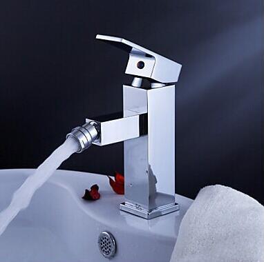Высокое Качество Латунь Материал Однорычажный Chrome горячей и холодной ванной смеситель для биде кран, смеситель