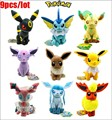 Japan 9pcs/set Pokemon Plush Toy Pokemon Eevee Family Movies & TV Plush Toy Doll 9 Dolls Soft Stuffed Animals & Plush