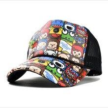 Wholesale Adult Fashion Unisex Classic Trucker Baseball Mesh Cap Snapback Hat Vintage Women Men Gorras Hip Hop