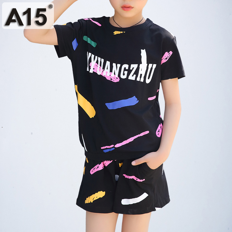Kids Clothes Sets for Girls Summer 2018 Children Clothing 2pcs Sets T-Shirt Shorts Tracksuit Girl Sports Suits Size 3 10 12 Year