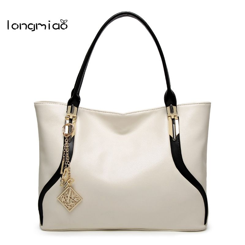 longmiao Brand Designer High Quality Women Shoulder Bag Casual PU Leather Female Big Tote Bag Ladies HandBags Bolsa Feminina brand designer large capacity ladies brown black beige casual tote shoulder bag handbags for women lady female bolsa feminina page 3