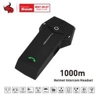 New 1000M BT NFC FM Radio Function Motorcycle Helmet Bluetooth Intercom Headset Interphone Headphone For Phone