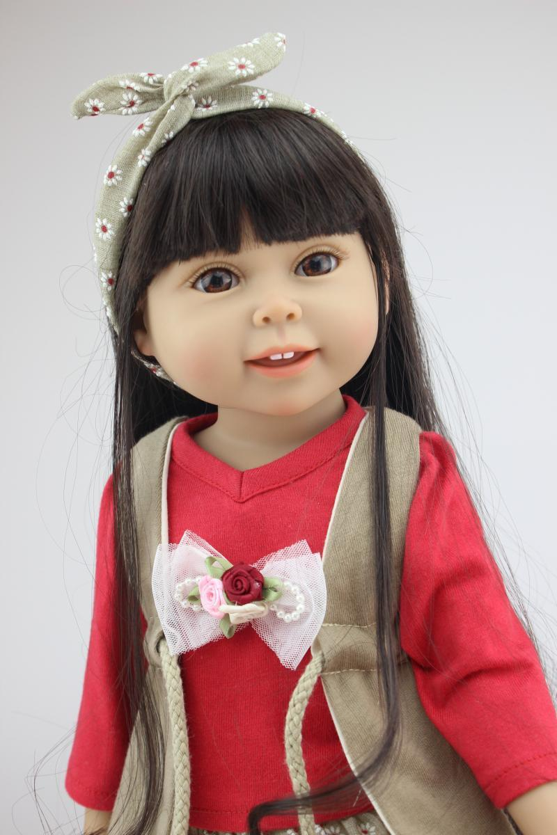45cm Real Girls Baby Doll Realistic Soft Silicone Newborn Princess Doll Handmade Alive Vinyl Bebe Reborn Dolls for Kids Playmate