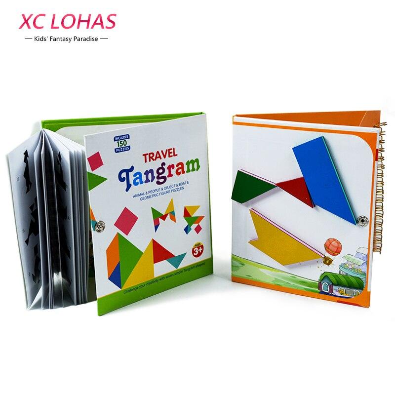 3 tipos magnética Tangram rompecabezas Montessori juguete educativo para los niños cerebro humano regalos de cumpleaños IQ niños Juguetes