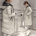 2016 Mulheres No Longo Casaco de Inverno Casaco Grosso Jaqueta Casual de Algodão Com Capuz Mulheres Jaqueta de Inverno Para Baixo Casaco Feminino