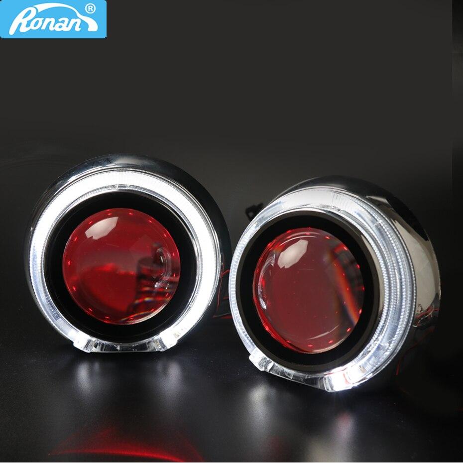 Ronan 3.0 ''H1 plein métal Bi xénon projecteur lentille LHD RHD costume H4 H7 phare 95 MM LED optique ange yeux voiture style mise à niveau