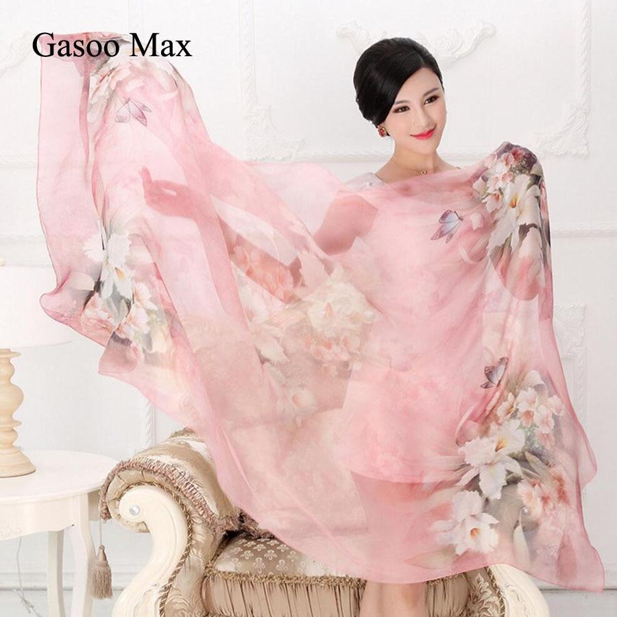 Nouveau 2019 100% foulard en soie 180*110 cm naturel réel foulards en soie femmes Long châle femelle hijab écharpe dame été plage couvre-ups