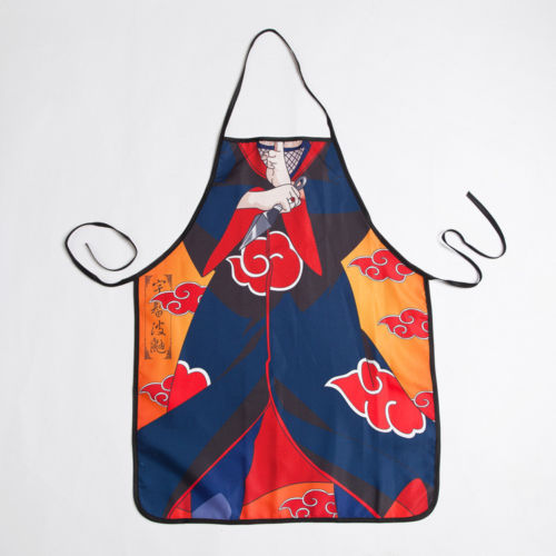 NARUTO Uchiha Itachi Aprons Cosplay Costume Butchers Catering Cooking Halloween Stage Cosplay Costume Gift Drop Ship