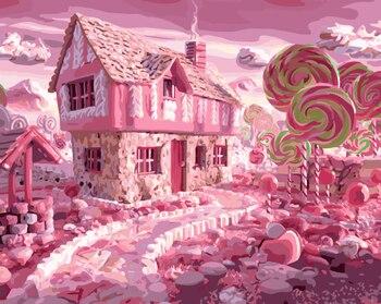 Zdjęcia bez ramek malowanie numerami cyfrowy olejny obraz olejny na płótnie wzór wystrój domu jaś i małgosia