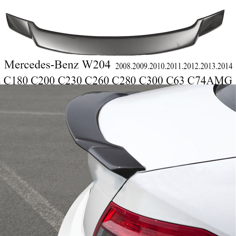 High Quality Carbon Fiber Spoiler For Mercedes Benz W204 C180 C200 C230 C260 C280 C300 C63