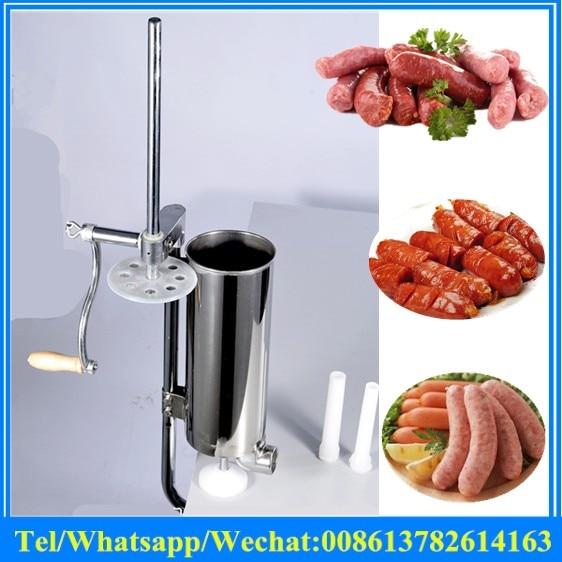 Stainless Steel Hand Crank Sausage Stuffer Manual Sausage Filler Machine,sausage Making Machine,vertical S/s Sausage Stuffer