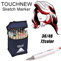 TouchFIVE 30 40 60 80Color Dual Head Art Marker Set Alcohol Based Dual Tip Sketch Marker