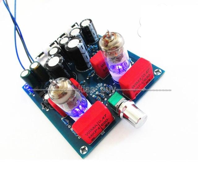 Febre placa amplificadora Pré-amplificador valvulado 6J1 tubo 6J1 preamp amplificador de válvula tampão bile