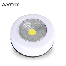 Cordless COB Mini LED Night Lights 3W Touch Sensor Portable Work Light Battery Powered Under Cabinet Closet Push Stick On Lamp