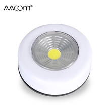 Cordless COB Mini LED Night Lights 3W Touch Sensor Portable Work Light Battery Powered Under Cabinet Closet Push Stick On Lamp(China)