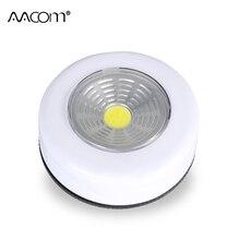 Mini luces LED de noche COB inalámbricas, 3W, Sensor táctil, luz de trabajo portátil con batería alimentada por debajo del armario, lámpara con varilla de empuje