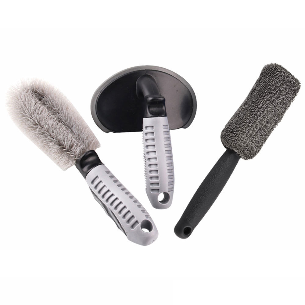 Auto Accessories 3Pcs set Car Wheel Brush Motorcycle Car Washing Brush Soft Brush Non Scratch Material in Sponges Cloths Brushes from Automobiles Motorcycles