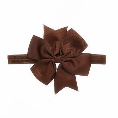 100pcs lot Large Solid grosgrain Bow Elastic Headband