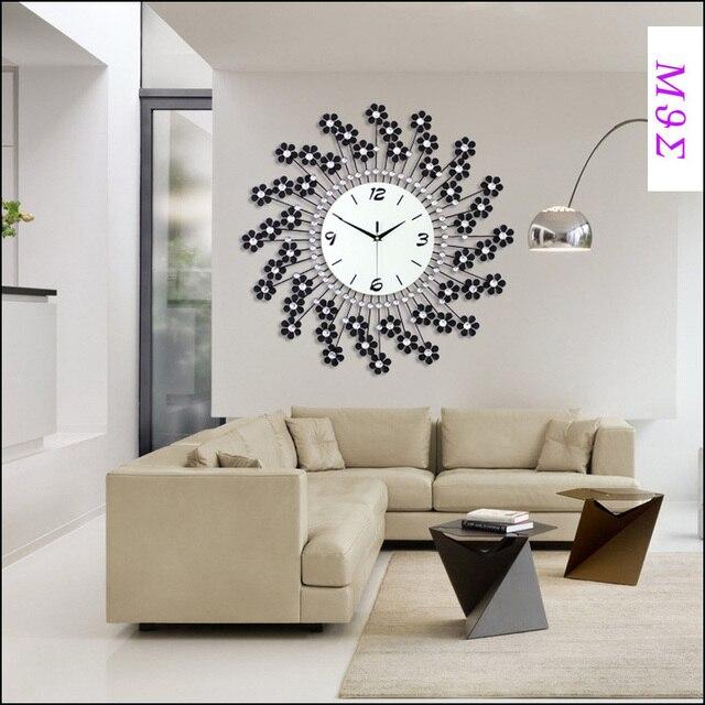 22incheswrought Iron Wall Clock Wanduhr Home Decor Modern Design