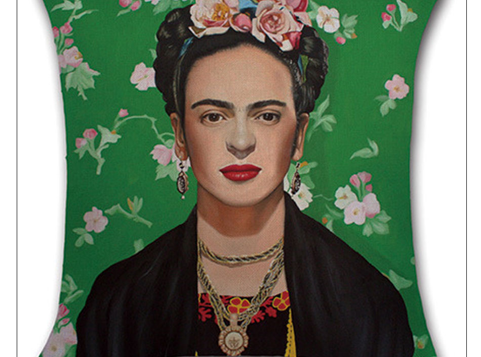Self-portrait Pillowcase Frida Kahlo Colorful Flower Linen Pillows Square Painting Cushion Cover Sofa Bedroom Home Decorative (5)