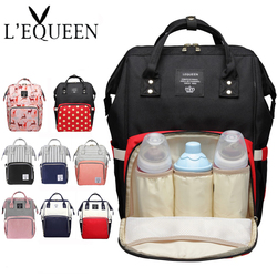 LEQUEEN Brand Baby Diaper Mummy Bags Large Capacity Maternity Nursing Diaper Bags infant Nappy changing bag Backpack Baby Care